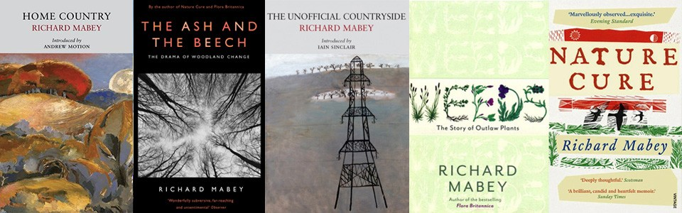 richard mabey books page banner image with key titles